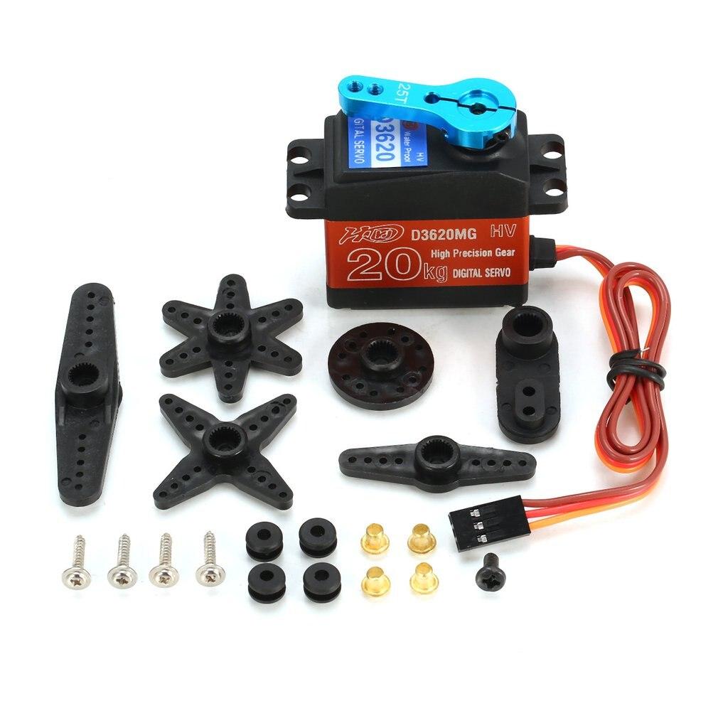 DKJ D3620MG 20KG 180resistente al agua Metal engranaje Digital Servo Core con alto Torque para RC coche barco