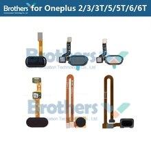 Pour Oneplus 2 3 3 5 5T empreinte digitale Flex câble 1 + 3 3 3T pour Oneplus 5 5T accueil bouton capteur Scanner Flex câble téléphone remplacement