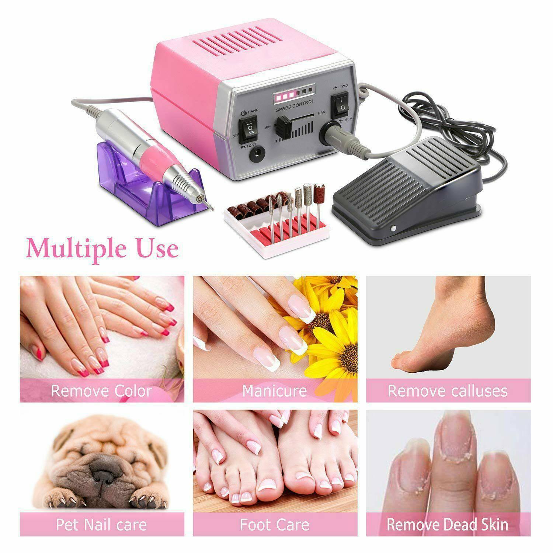 Máquina de Broca do Prego Conjuntos para Manicure Elétrica Moinho Cortador Unhas Dicas Manicure Prego Pedicure Arquivo Elétrico Polisher 30000 Rpm