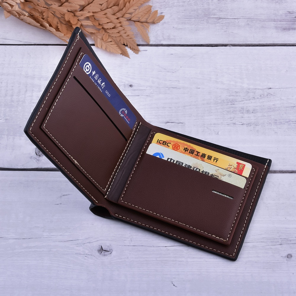 Three-layer gift box set men's high-end watch leather wallet first layer leather belt to send Father's Day birthday gift enlarge