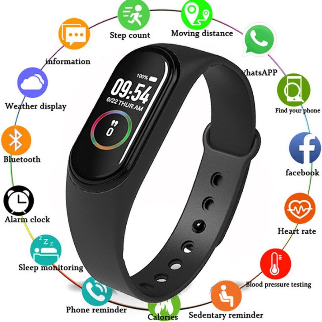 Rastreador de fitness relógio inteligente pulseira pressão arterial relógio inteligente freqüência cardíaca saúde monitoramento esportes ip67 à prova dip67 água