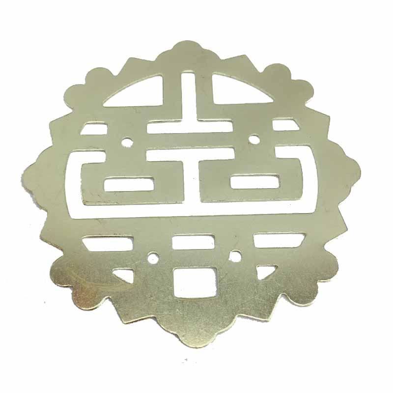 1PC Yellow Filigree Round Flower Wraps Cabochon Ancient Flatback Metal Embellishments Scrapbooking For DIY,54mm Dia.