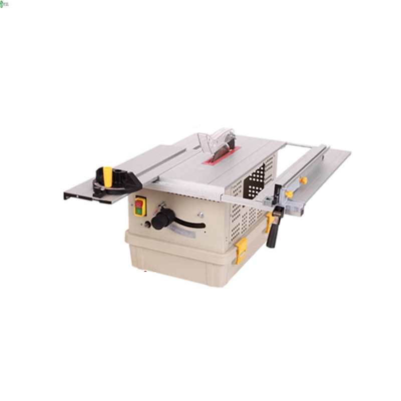 Dust-free saw multi-functional table saw solid wood floor small electric cutting machine woodworking sliding table saw enlarge