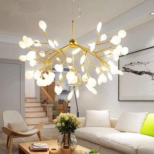 Postmodern Led Pendant Lights Creative Firefly Crystal Hanging Lamp for Living Room Home Decor Bedroom Lamps Suspension Hanglamp
