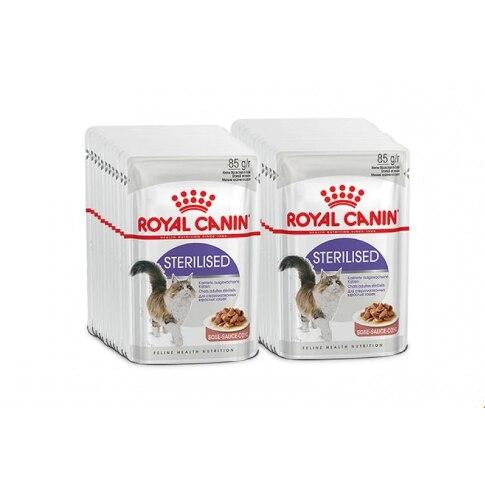 Royal Canin Esterilizados пауч для кастрированных котов и стерилизованных кошек (кусочки в соусе), comida de Gato, comida para gatos,(24 пауча)