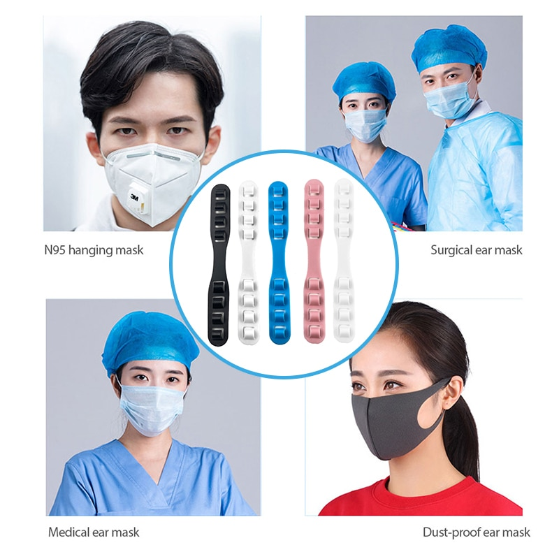 Children Adult Adjustable Anti-slip Silicone Hook Mask Anti-tightening High Quality Extension Hook Face Masks Buckle Accessories