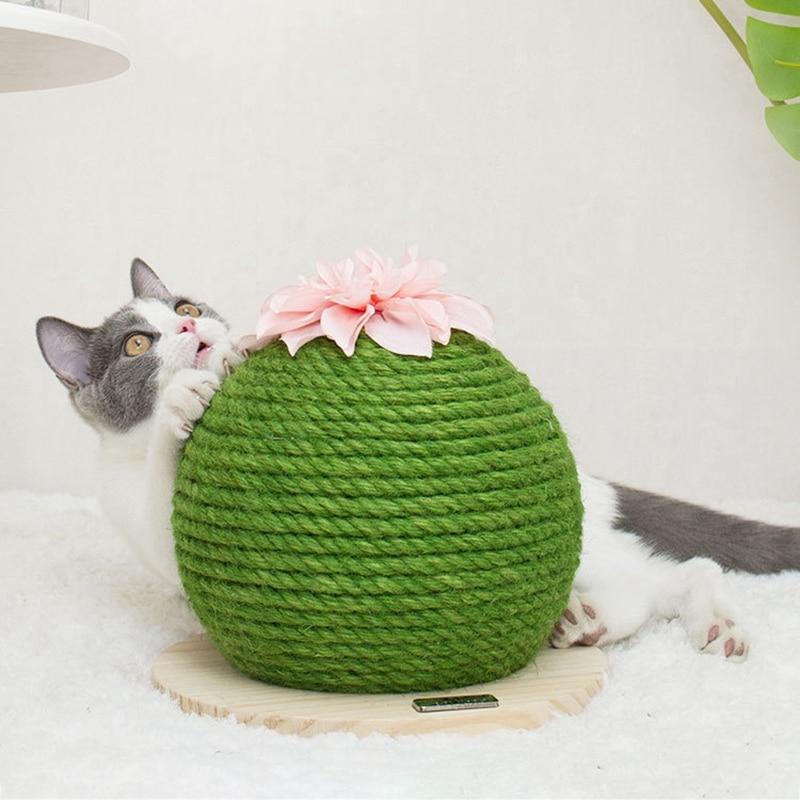 Teaser para perro, gato, gatos y mascotas, cuerda de Sisal, bolas tejidas para jugar a masticar, juguete sonajero para recoger arañazos, Juguetes Divertidos, gato, mueble, remolque de árbol