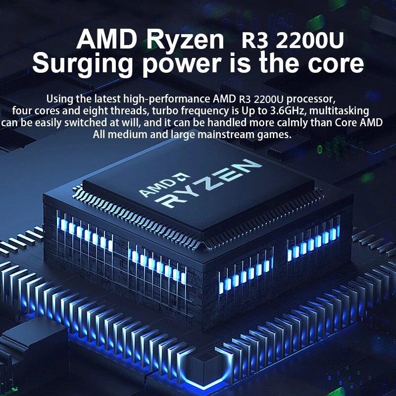 15.6 inch Notebook 8G 16G RAM 1TB 128G 256G 512G SSD ROM Laptop AMD Ryzen R3 2200U Windows 10 Ultrabook For Students Laptops