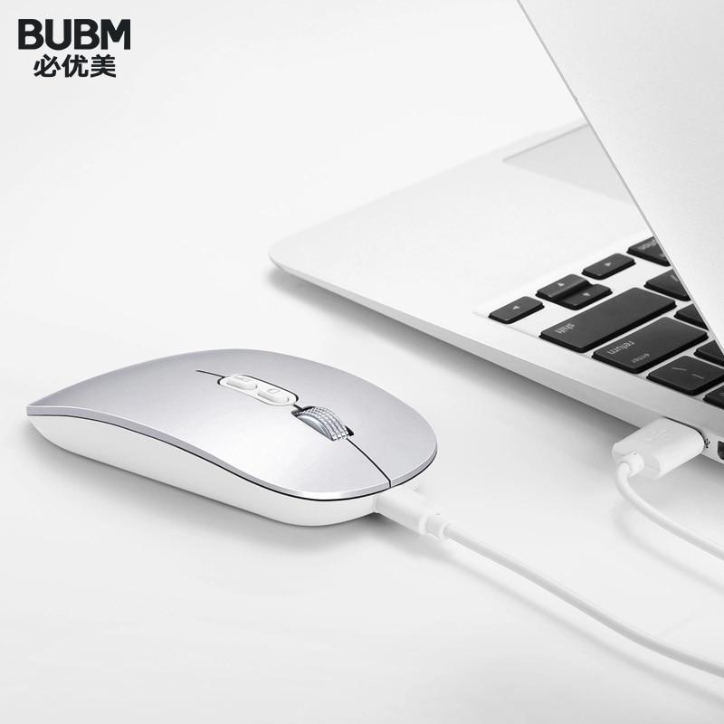 BUBM-ماوس كمبيوتر لاسلكي صامت ، 1600 ديسيبل متوحد الخواص ، صوت صامت ، مستقبل 2.4G فائق النحافة