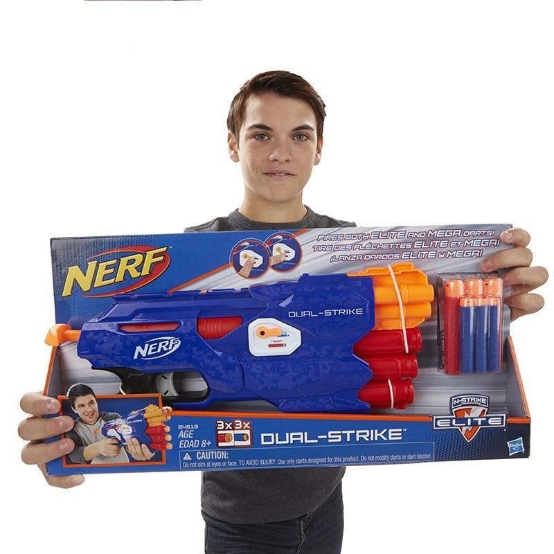 NERF Heat Elite série balle molle jouet pistolet double Mode lanceur B4620 jouets pour cadeaux danniversaire pour enfants