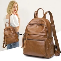 2021 women backpack large capacity fashion anti theft bag students leisure travel bag bags for women bookbag leather kawaii