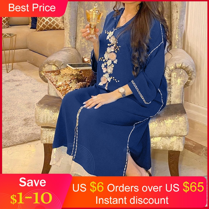 Plus Size Muslim Dresses African Women Vintage Long Robe Dress Casual Loose Oversize Spring Hooded Printing Maxi Female Vestido