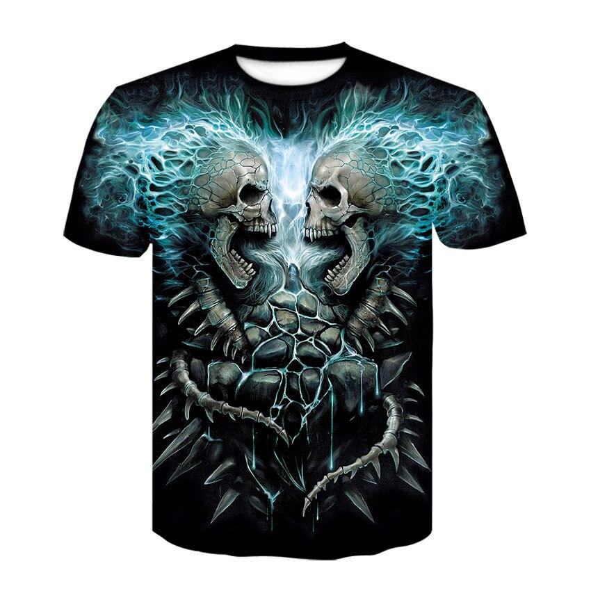 2020 nueva camiseta skull 3D camisetas de moda de verano para Hombre Camisetas De Hombre harajuku con estampado masculino camisetas informales de mujer dropshipping