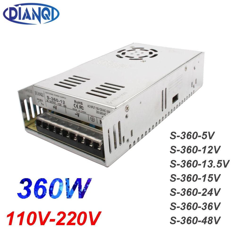 DIANQI-شريط إضاءة LED 360 واط ، 12 فولت ، 30 أمبير ، CNC ، طباعة ثلاثية الأبعاد ، حجم صغير ، إخراج فردي ، تحويل مصدر الطاقة ، 5 فولت ، 13.5 فولت ، 15 فولت ، 24 فو...