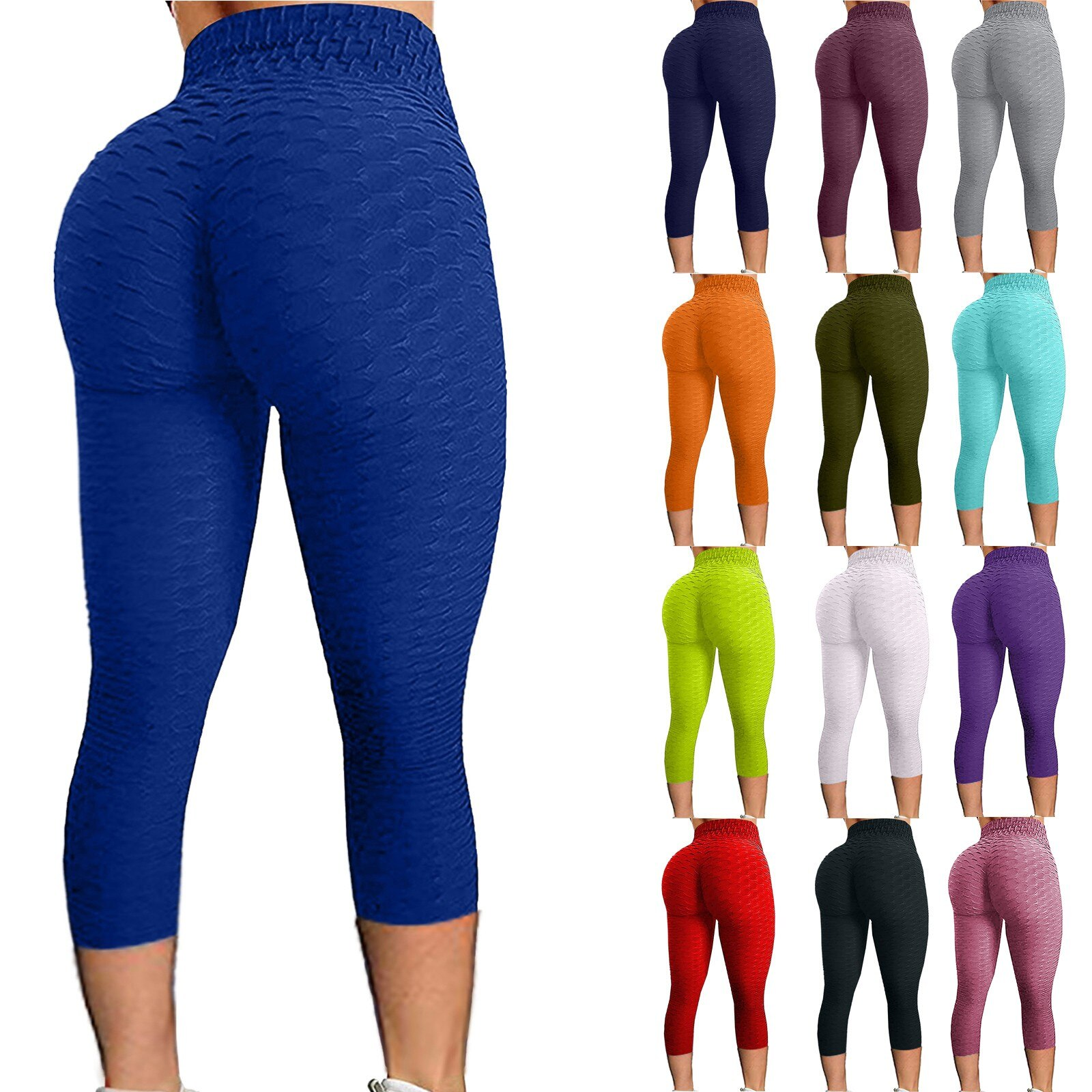 WomenYoga Pants High Waist Bubble Hip Lifting Exercise Fitness Running Sports Long Pants Jogging Keep Fit Trousers Plus Size