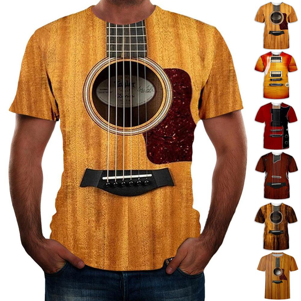 Camisetas divertidas de guitarra eléctrica para hombre, camisa de manga corta de...