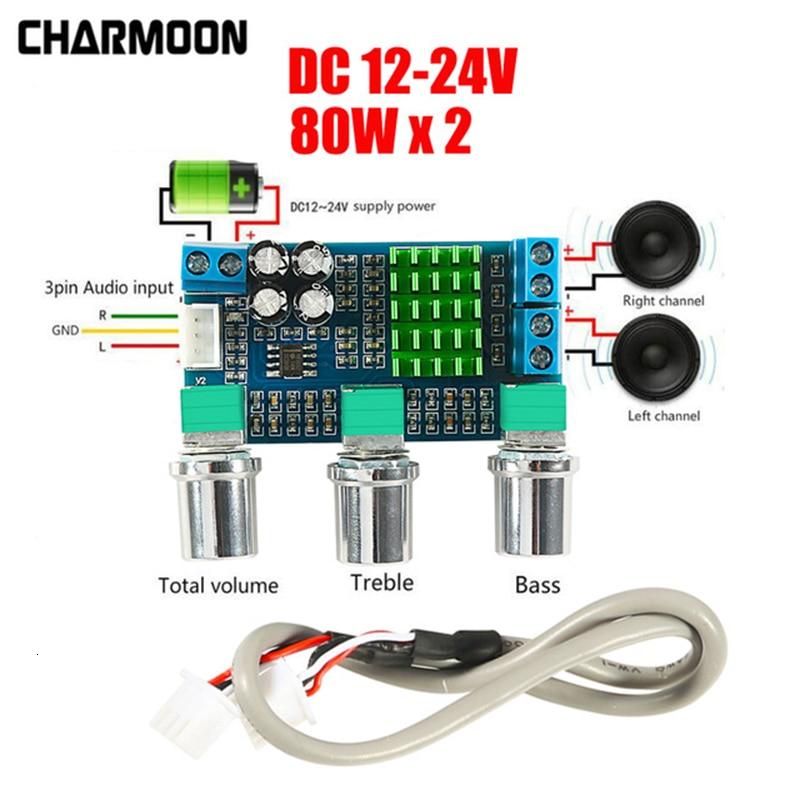 Dc 12 V 24 V 80 W X 2 Dual Channel Digital Audio Tpa3116d2 Höhen Bass Regelung Preset Pre Verstärker bord