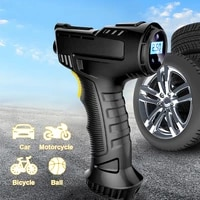 car air pump 120w wireless inflatable pump portable rechargeable air compressor digital car automatic tire inflator equipment