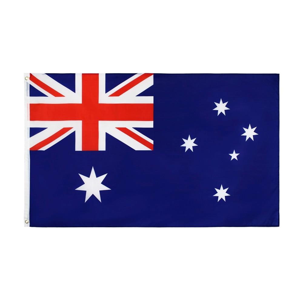 Johnin 90*150cm AUS AU australia bandera australiana para Decoración