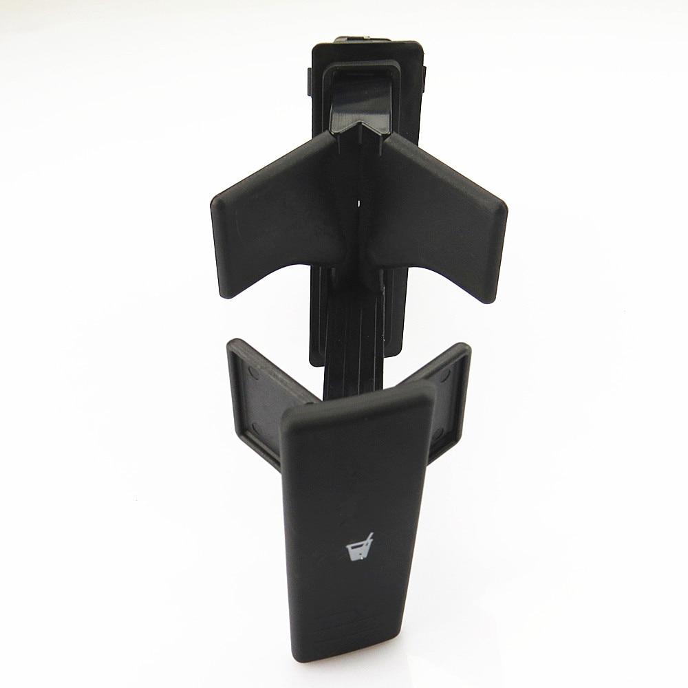 SCJYRXS soporte para consola central derecha de coche negro, soporte para vasos de agua 6Q0858602 6Q0 858 602 6Q0 858 602 C 6Q0 858 602 D para Polo