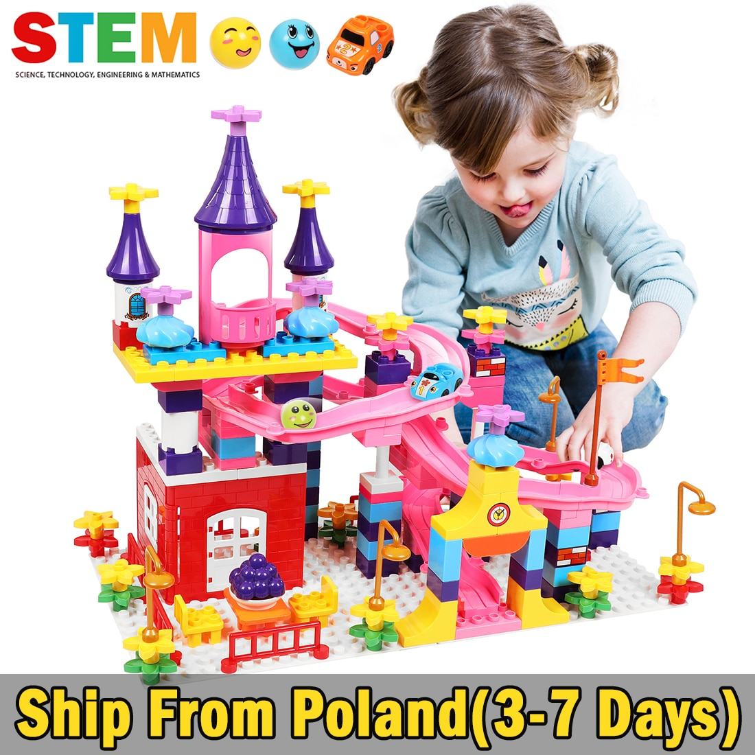 10551 elves ragana s magic shadow castle model building blocks bricks toys girls toys compatible with lego gift kid set girls Marble Run Slide Building Blocks Compatible Duploed Girls Castle Kids Toys Blocks With Figures Cars Toys For Children Girls
