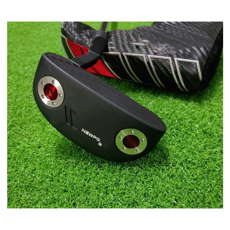 Golf Putter Left Hand Right Hand Putter NEWPOR 2 Black Left Hand Small Semicircle Putter Hybrid Golf Club with Logo with wrench