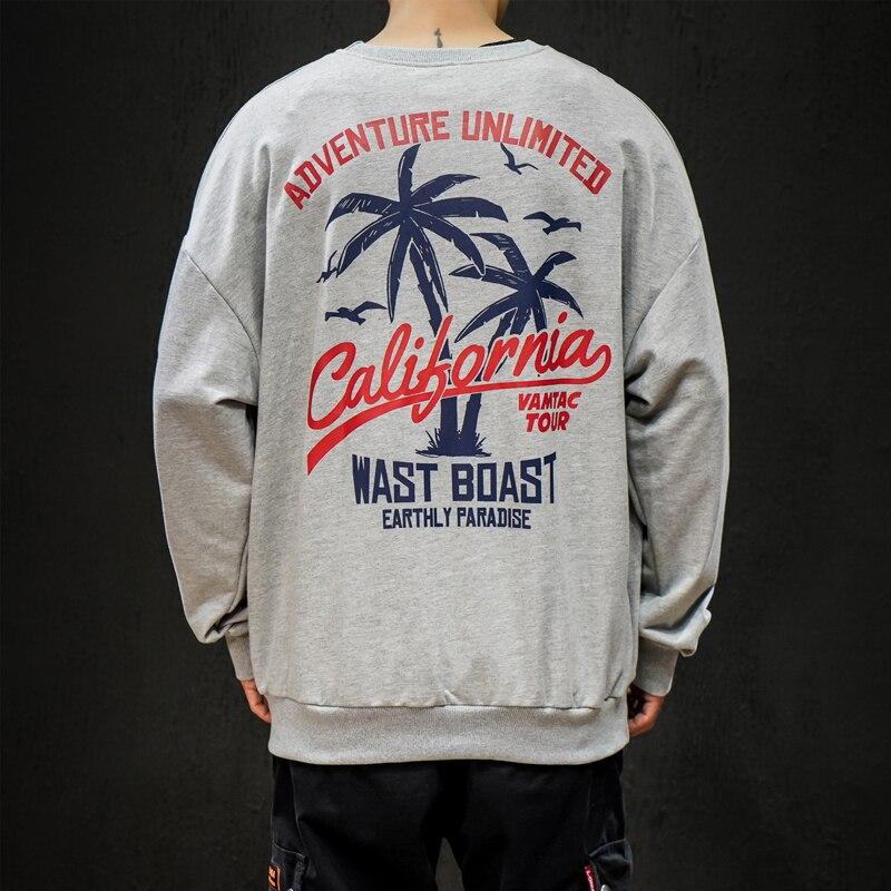 Moletom masculino férias impressão hoodies árvore de coco moletom design roupas de marca