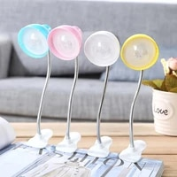 night light candy color mini table clip on led flexible night reading emergency lamp studybed clamp light adjustable book s5t3