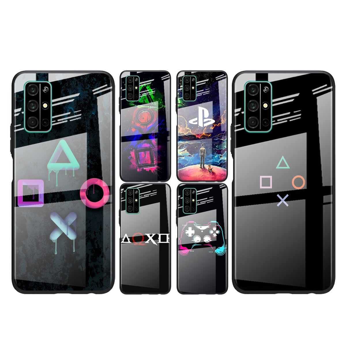 Tempered Glass Cover PlayStation Game Ps For Huawei Honor 30 20 10 9X 8X Pro Plus Lite Shockproof Shell Phone Case