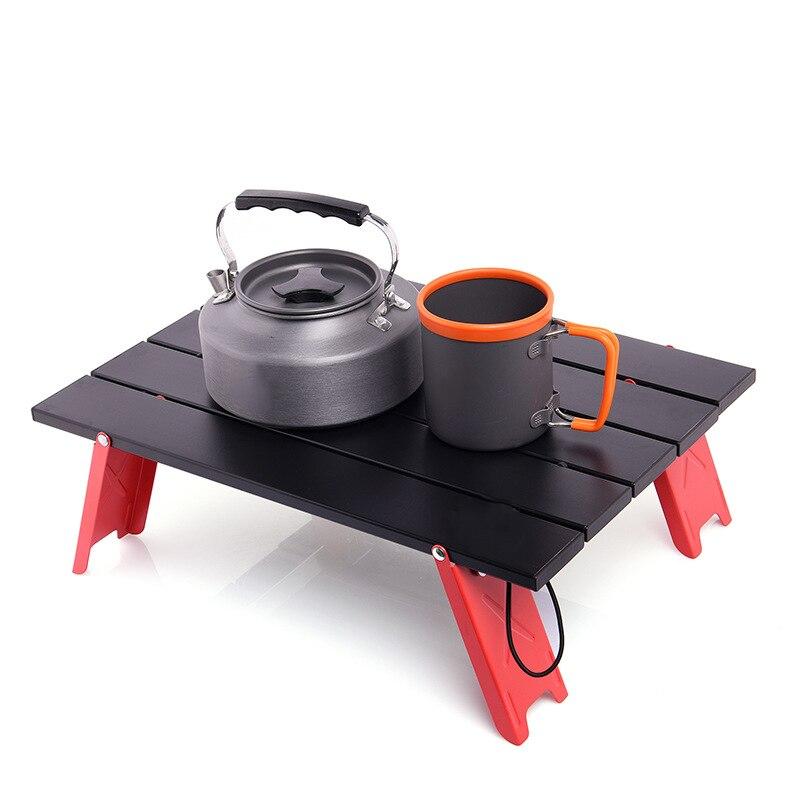 Mesa plegable de aleación de aluminio para acampar, mesa plegable ligera para...