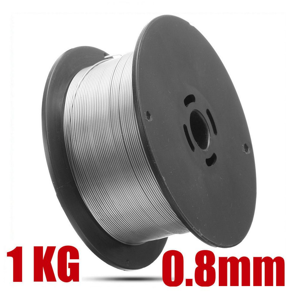 Welding Wire 1Roll 0.8mm 1kg Stainless Steel Welding Wire Solid-Cored Welder Tools for Food General Chemical Equipment 100x45mm