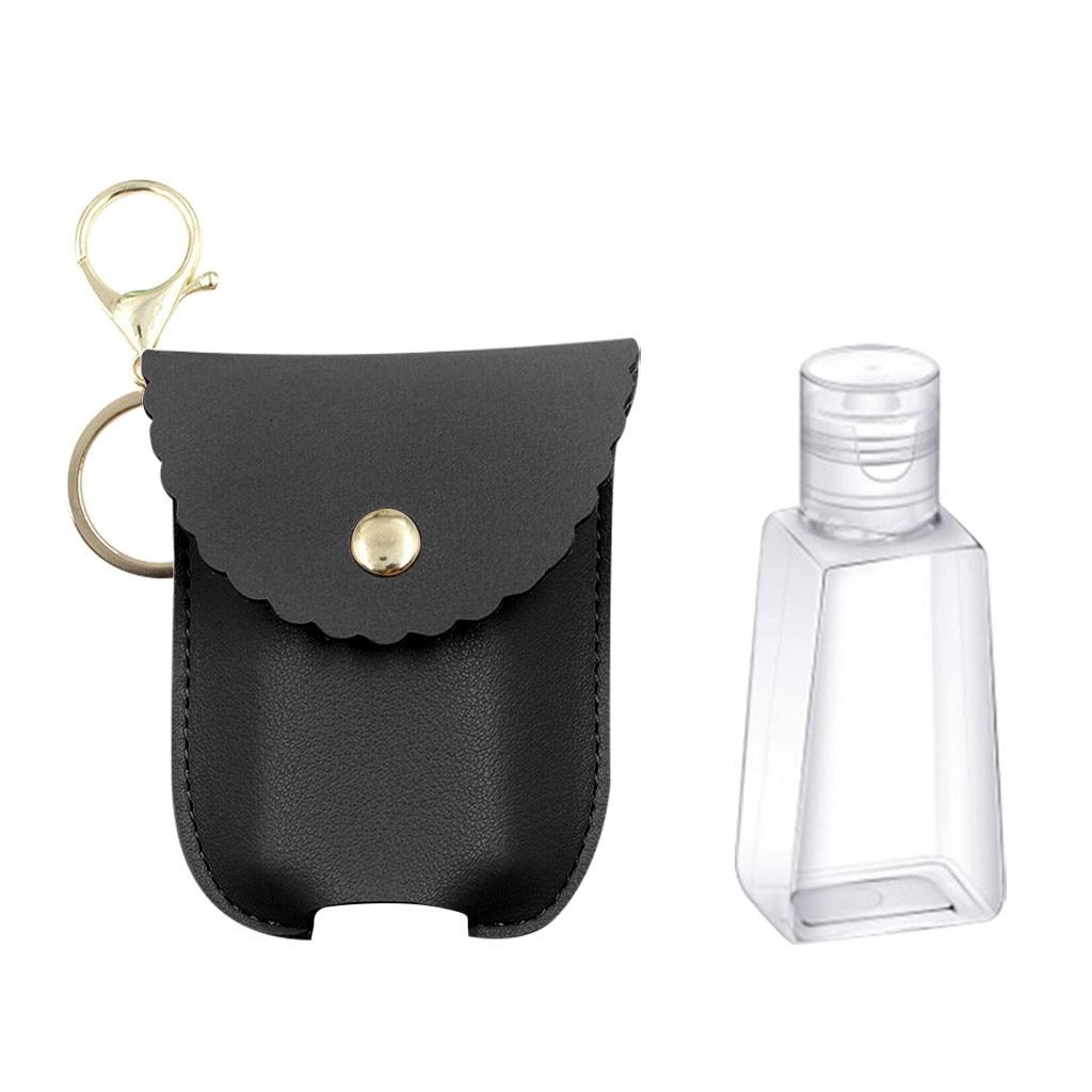 Tubo rellenable, botella cosmética vacía de esmalte opaco, tubo suave, Envase Exprimible de viaje, botellas de viaje con llavero, bolsa de regalo Z0520