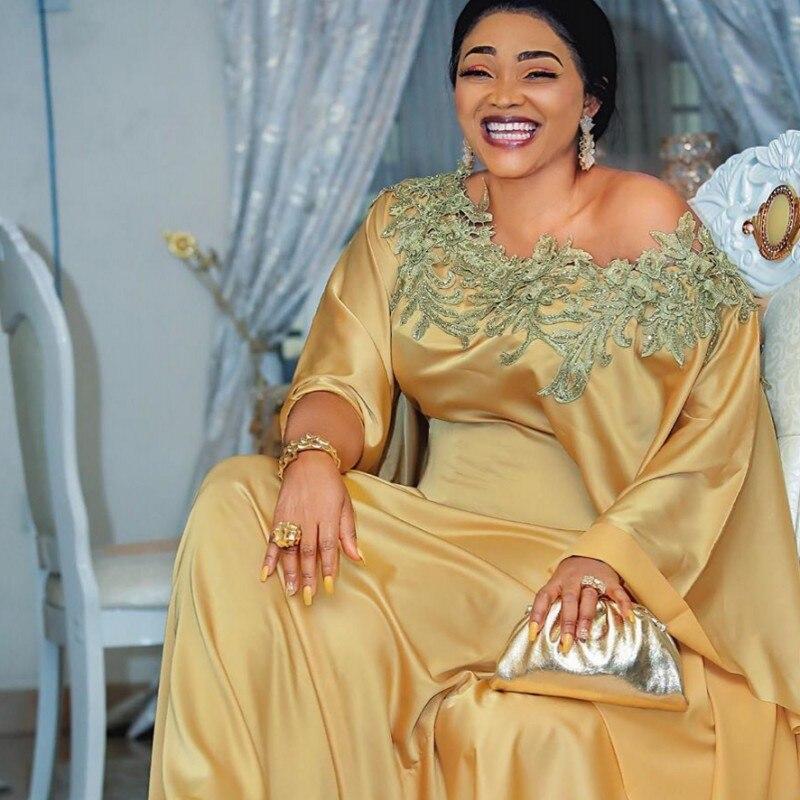 فساتين افريقية تقليدية للنساء ، قماش حريري ، جودة عالية ، رقبة دائرية ، مع دانتيل ، فستان سهرة ، موضة افريقية
