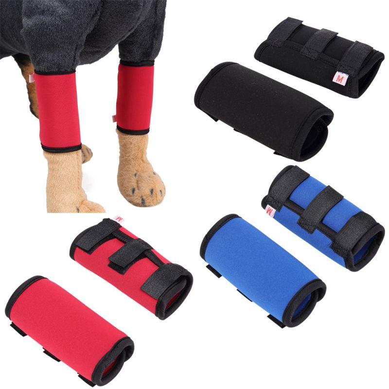 Одна пара, защитный бандаж для собак, для защиты ног от травм, для передних ног, компрессионные обертывания для лап, с защитным бандажом для Р...