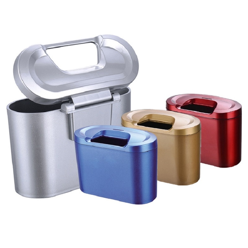 Car Trash Can Car Auto Rubbish Dustbin Trash Can Garbage Dust Case Box Car Storage Case Auto Trash B