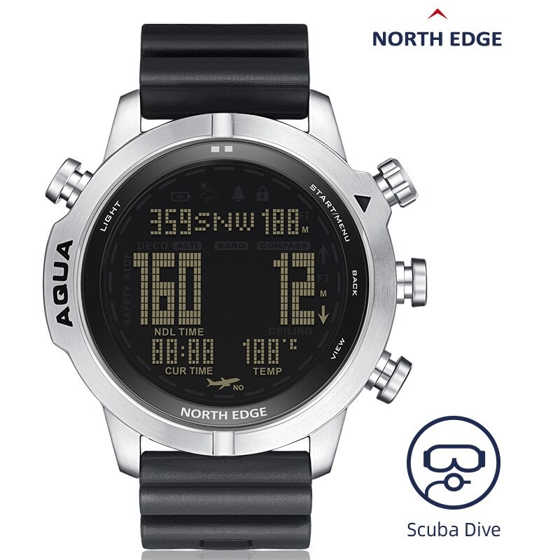 Men's Diving Waterproof 100M Smart Digital Freedom/Scuba Diving Watch Altimeter Barometer Compass Temperature Clock