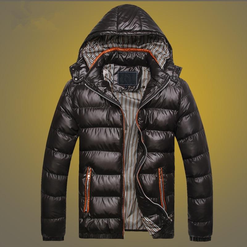 Мужские зимние куртки с хлопковой подкладкой, утепленные теплые пальто с капюшоном, Мужская ветровка оверсайз, модная повседневная коротка...