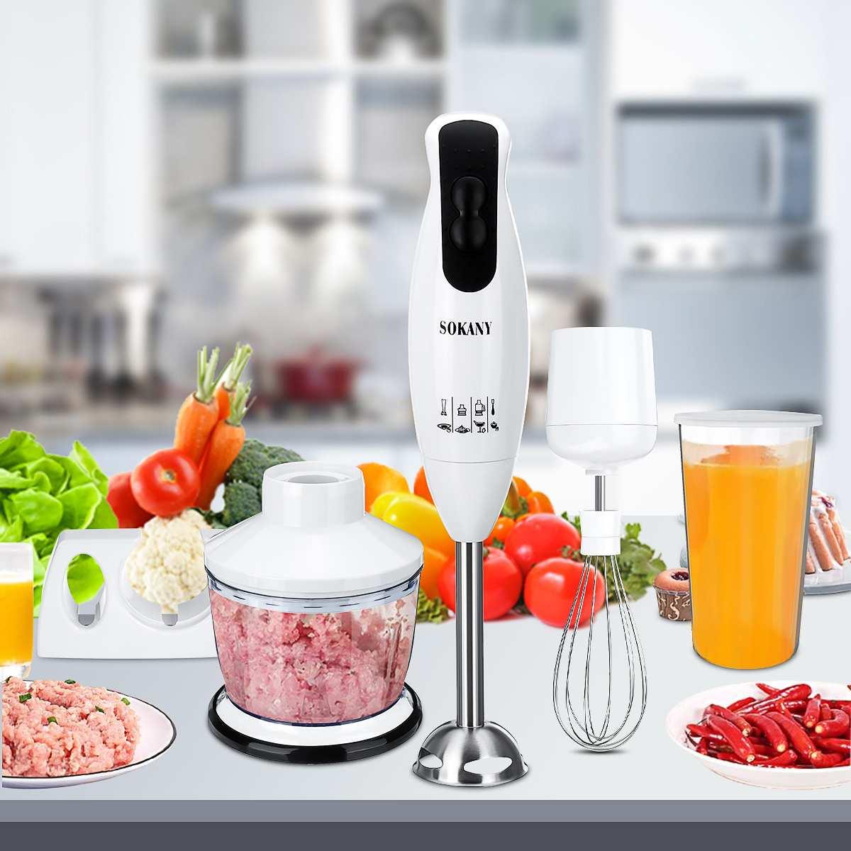 hand mixer chudesnitsa mp 3502 4 in 1 Hand Blender Electric Food Blender Mixer 2Speed Detachable Hand Food supplement Vegetable Meat Grinder Whisk Juicer Mixer