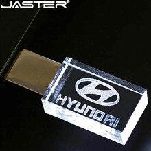modern Hyundai crystal  metal USB flash drive pendrive 4GB 8GB 16GB 32GB 64GB 128GB External Storage memory stick u disk