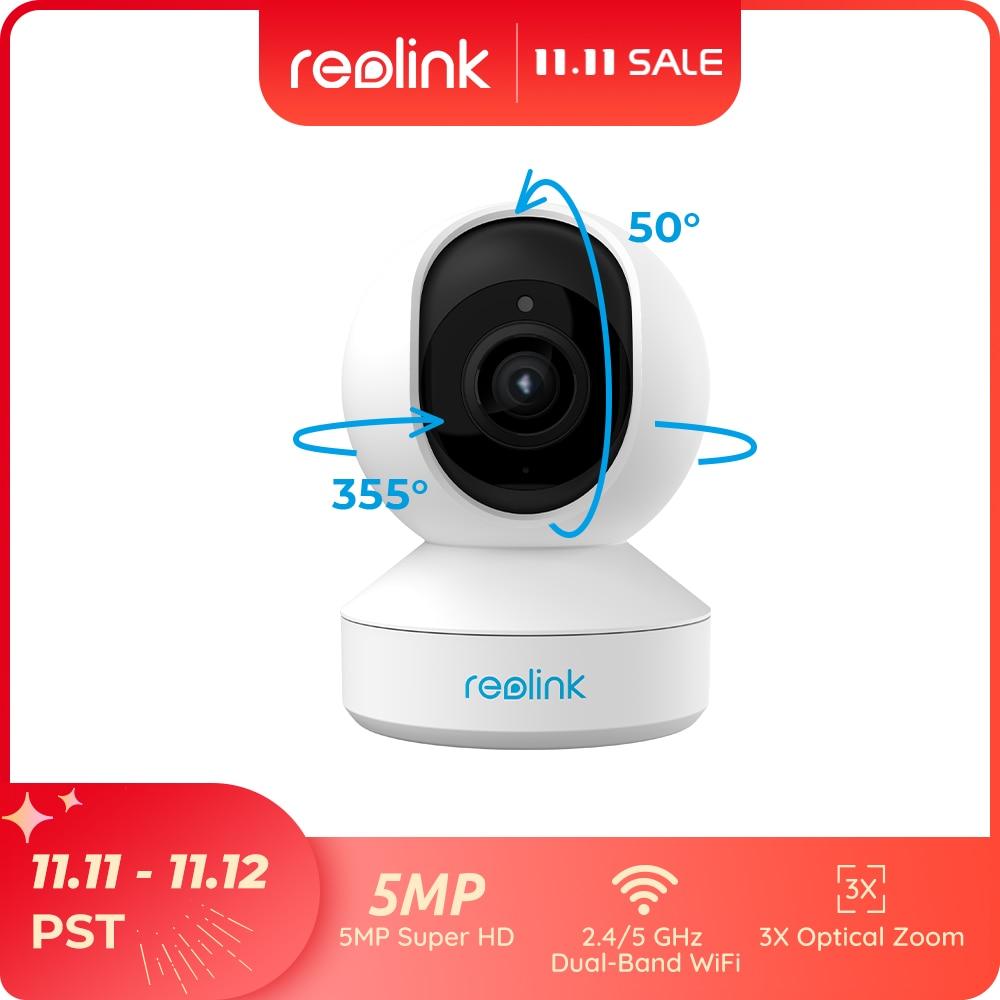 ريولينك PTZ 5MP الرئيسية كاميرا IP واي فاي 2.4G/5G 3x زووم بصري عموم/إمالة SD فتحة للبطاقات 2-way الصوت في الأماكن المغلقة الوصول عن بعد E1 التكبير