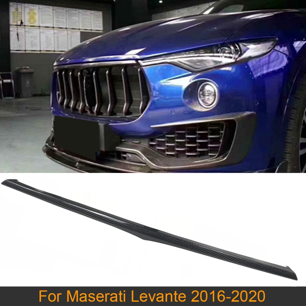 Moldura de rejilla delantera de fibra de carbono para Maserati Levante Base S Sport Utility, rejilla delantera de 4 puertas 2016-2020, moldura de rejilla