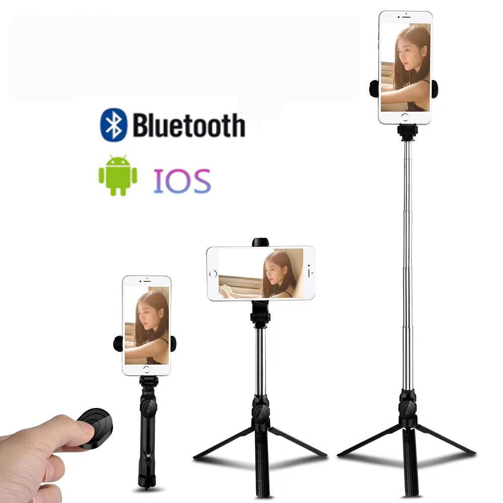 Adjustable Bluetooth Selfie Stick with Remote Control Self timer Tripod Mobile Phone Selfie Stick Tripods Live Video Support