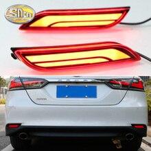 Для Toyota Camry SE XV70 2018 2019 мульти функции Автомобильный светодиодный задний противотуманный фонарь заднего бампера светильник тормозной светильник автоматического поворота отражатель