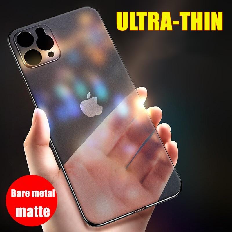 Luxus Stoßfest Ultra Dünne Telefon Fall Für IPhone 11 Pro Max 6 6S 8 7 Plus Fall Matte Abdeckung für IPhone 11 X XS XR Harte PC Fall