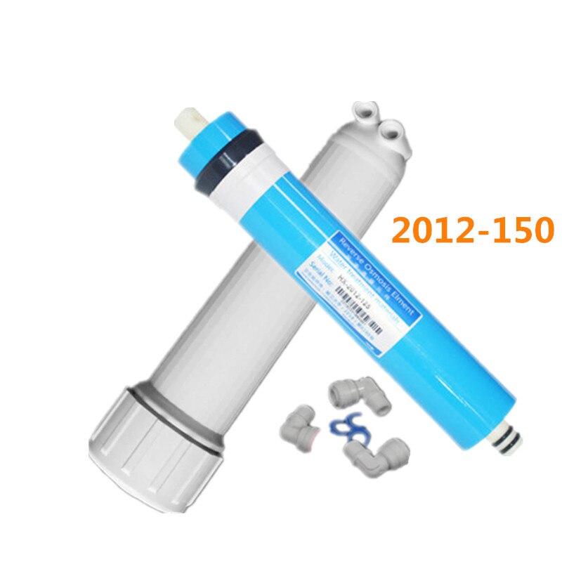 150gpd فلتر التناضح العكسي ro غشاء تصفية المياه خرطوشة 2012-150 عكس التناضح نظام + تصفية الإسكان 1/4 رابط سريع