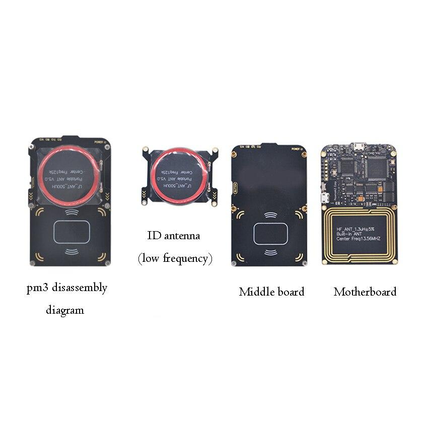 1 Set 2 USB Port NFC RFID Reader IC ID Card Copy Copier, Proxmark3 Access Elevator Card Copy Machine Reader Support Rolling Code enlarge