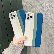 Luxury Gradient Rainbow Case for Apple iPhone 12 Pro Max 11 6s 7 8 Plus X XS MAX XR Mini Original Of