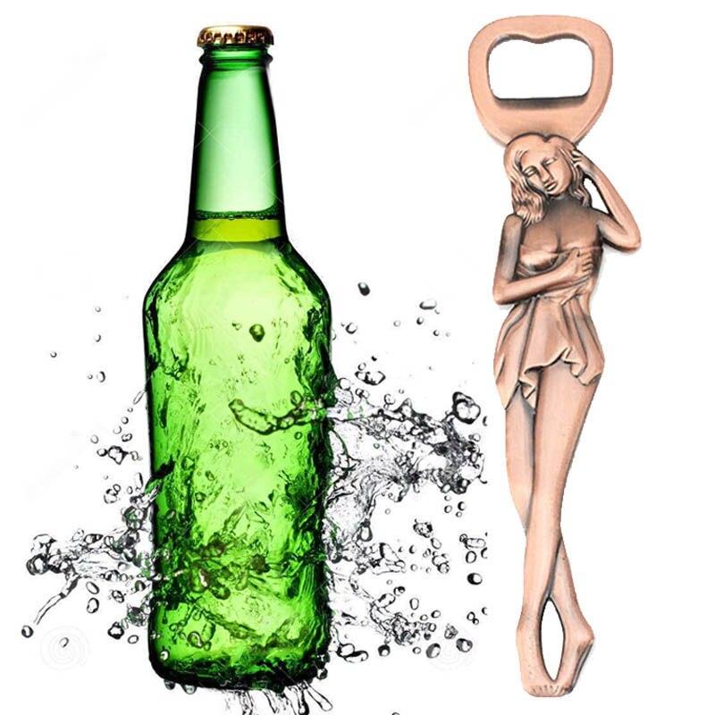 Новинка, открывалка для бутылок из металлического сплава, красивая привлекательная Дамская барная открывалка для бутылок с подвеской, откр...