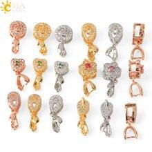 CSJA 3 pièces/lot pendentif pince fermoir pincement Bail strass pendentif connecteurs perles bijoux résultats bijoux à bricoler soi-même accessoires S610