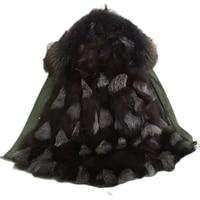 customized fashion fox fur parka for mr mrs wearmens down jakcket for unisex fox wear free shipping
